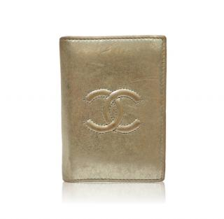 Chanel Card Holder in Gold Lambskin