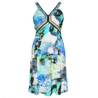 Marc Cain Abstract Print Cotton Dress