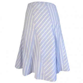 DKNY blue strip cotton skirt