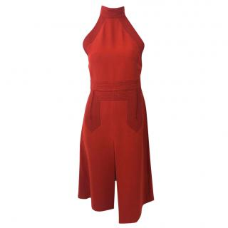 Gucci Red Stitch Detail Dress