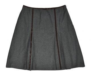 Gunex by Brunello Cucinelli Gray Wool Skirt