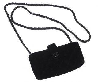 Chanel Velvet Mini Clutch on Chain