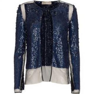 EMILIO PUCCI, Women's Blue Sequin Jacket UK 8