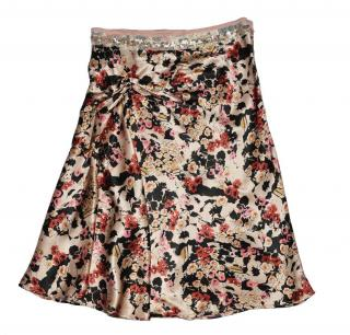 Sandro - Silk Sequin Flora Skirt