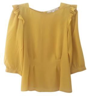 Walter Baker yellow silk top