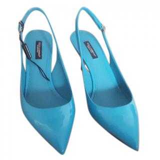 Dolce Gabbana bellucci slingbacks turquoise