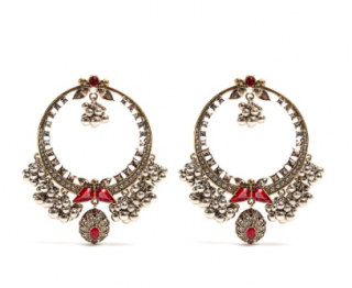 Alexander McQueen Crystal-embellished large hoop earrings