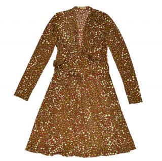 ISSA London Silk Wrap Cherry Dress