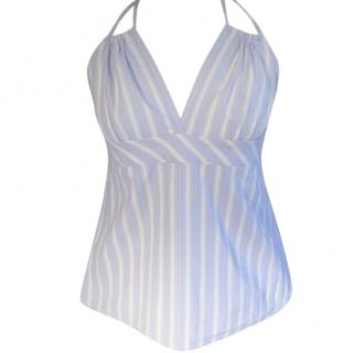 DKNY blue stripe cotton cami top