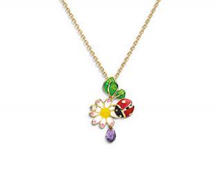 Diorette 18k Gold Dior Garden Necklace