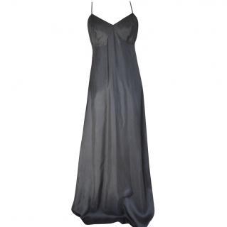 Agnes B black long slip dress