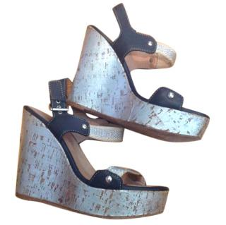 Philosophy Di Alberta Feretti Leather Wedge Sandals