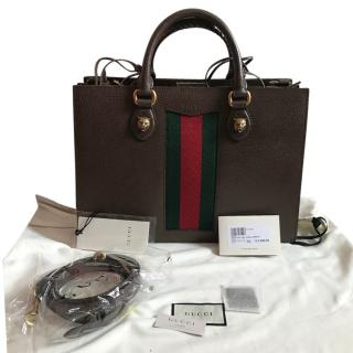 Gucci web trimmed Borse a Mano Donna Handbag