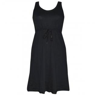 Marc Cain Sport Black Cotton Tie Dress
