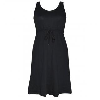 Marc Cain Sport Black Cotton Tie Dress