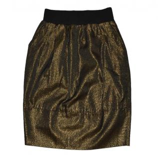 Gianfranco Ferre Gold Skirt Made in Italy Vintage IT 44