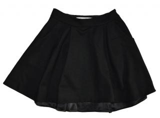 Diane von Furstenberg Black Wool Skirt size 0