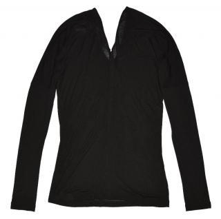 Maison Martin Margiela Black Long Sleeve Blouse Made in Italy size S