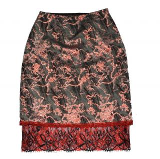 Christian Lacroix Bazar Stunning Flora Skirt Made in France size FR 40