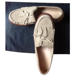 Jil Sander men's suede loafers