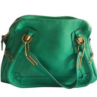 Chloe Jade Green Leather Paraty Bag