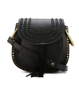 Chloe Hudson Black Leather With Suede Tassel shoulder / cross body Bag
