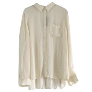 Armani Exchange cream silk blouse