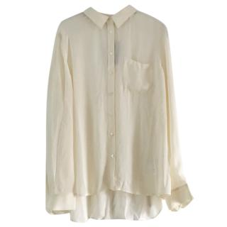 Armani Exchange cream silk blouse