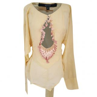Gucci Tom Ford  silk yellow kimono beach top