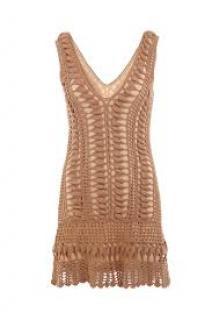 Melissa Odabash Alexis Brown Crochet Dress