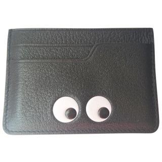 Anya hindmarch eyes black leather card case