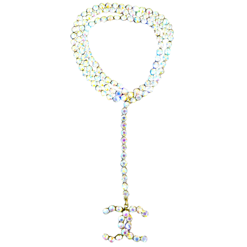 Chanel necklace or belt multicolour crystals