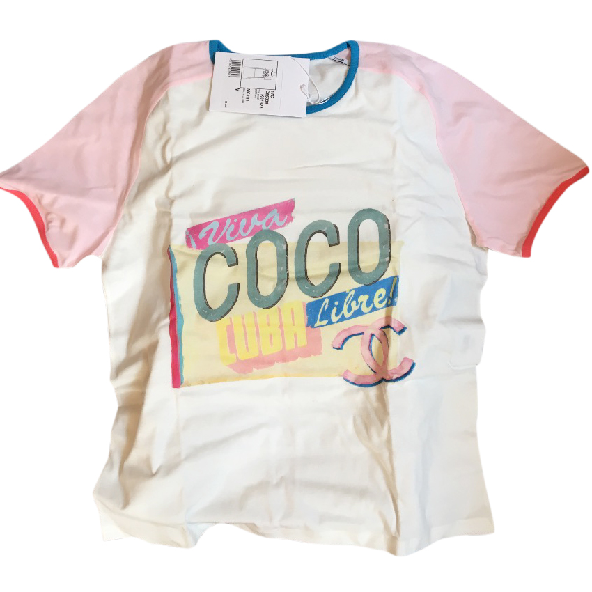 a559f20aa07e Chanel Coco Cuba T Shirt Size M New With Tags And Box | HEWI London