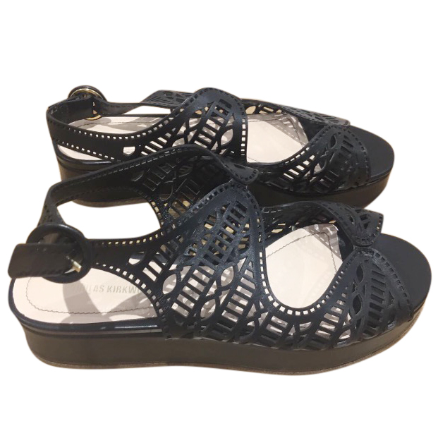 Nicholas Kirkwood Black Leather Sandals