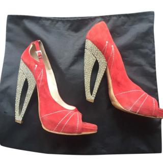 Dior Limited Edition Red Shoes