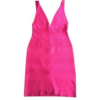 Herve Leger Pink Bandage Dress