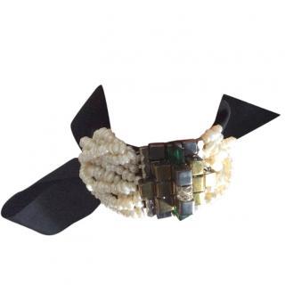 Dries Van Noten Seed Pearl & Glass Bead Bracelet