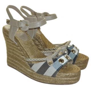 Burberry Wedge Heel Sandals