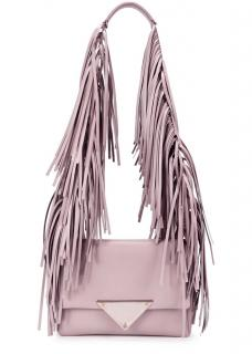 Sara Battaglia Fringe Pink Powder Blush Bag