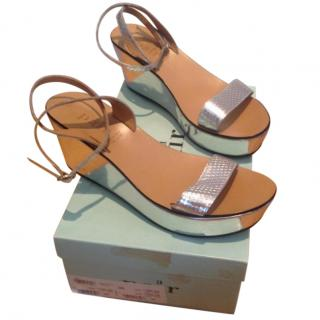 Silver Platform Sandals from A Pair