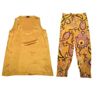 Gucci ladies trousers and top set