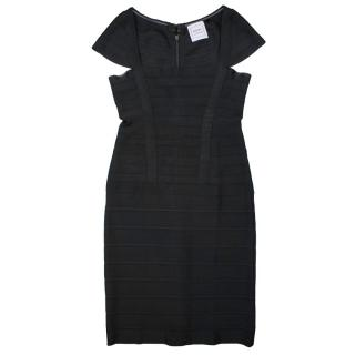 Herve Leger Black Bandage Mini Dress