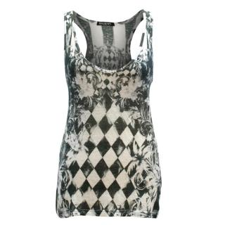 Balmain Black and White Patterned Vest