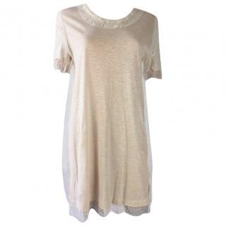 Chloe White Lace Cotton Dress