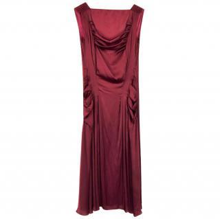 Nina Ricci Red Silk Dress