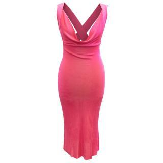 Alexander McQueen Pink Cross Back Dress