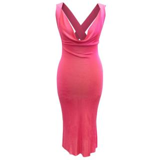 Alexander McQueen Pink Cross Back Dress