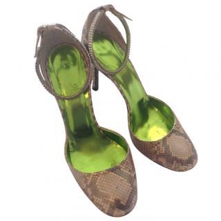 Boccaccini Snakeskin Heeled Sandals