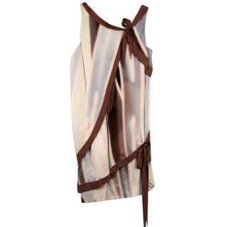 Nina Ricci Rust Silk Dress