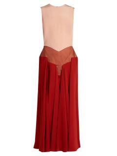Roksanda Red Madara Tri-Colour Sleveless Dress